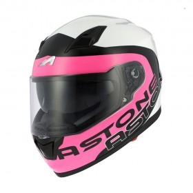 CASCO GT900 EXCLUSIVE APOLLO ROSA/BLANCO VISTA FRONTAL-MP RaCING
