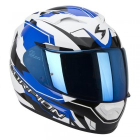 CASCO EXO-1200 AIR SHARP Blanco Y Azul MP Racing