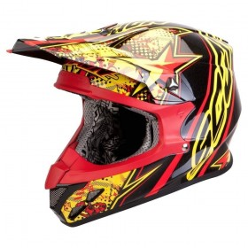 CASCO VX-20 AIR WIN WIN Amarillo-Rojo