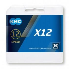 CADENA KMC X12 Plata/Negro...