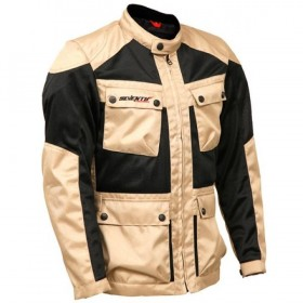 CHAQUETA SD-JC30 NEGRA/BEIGE MP RACING