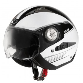 CASCO AXO LORD BLANCO Y NEGRO