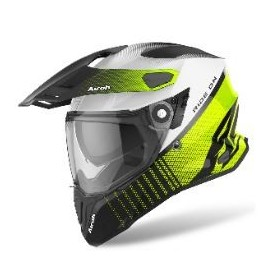 CASCO AIROH TRAIL COMMANDER NEGRO FLUOR