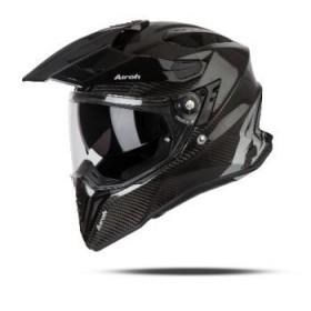 CASCO AIROH TRAIL COMMANDER NEGRO BRILLO