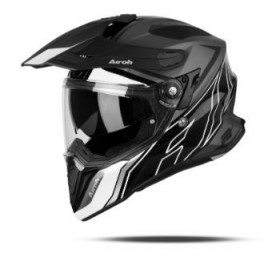 CASCO AIROH TRAIL COMMANDER BLANCO NEGRO
