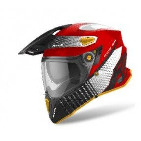 CASCO AIROH TRAIL COMMANDER ROJO NEGRO