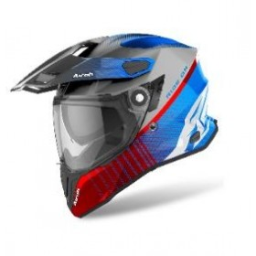 CASCO AIROH TRAIL COMMANDER AZUL ROJO