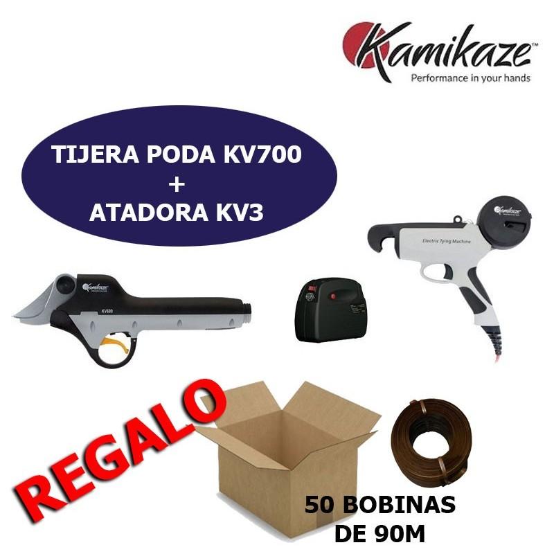 KIT VIÑA TIJERA KV700 + ATADORA KV3 KAMIKAZE ORP