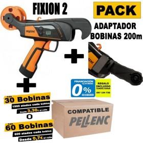 ATADORA PELLENC FIXION 2+ADAPTADOR PARA BOBINAS DE 200m+BOBINAS COMPATIBLE A ELEGIR