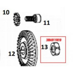 TUERCA HEXAGONAL PARA TIJERA PS37/EC50/ EPR137 (ref: 30040119010)
