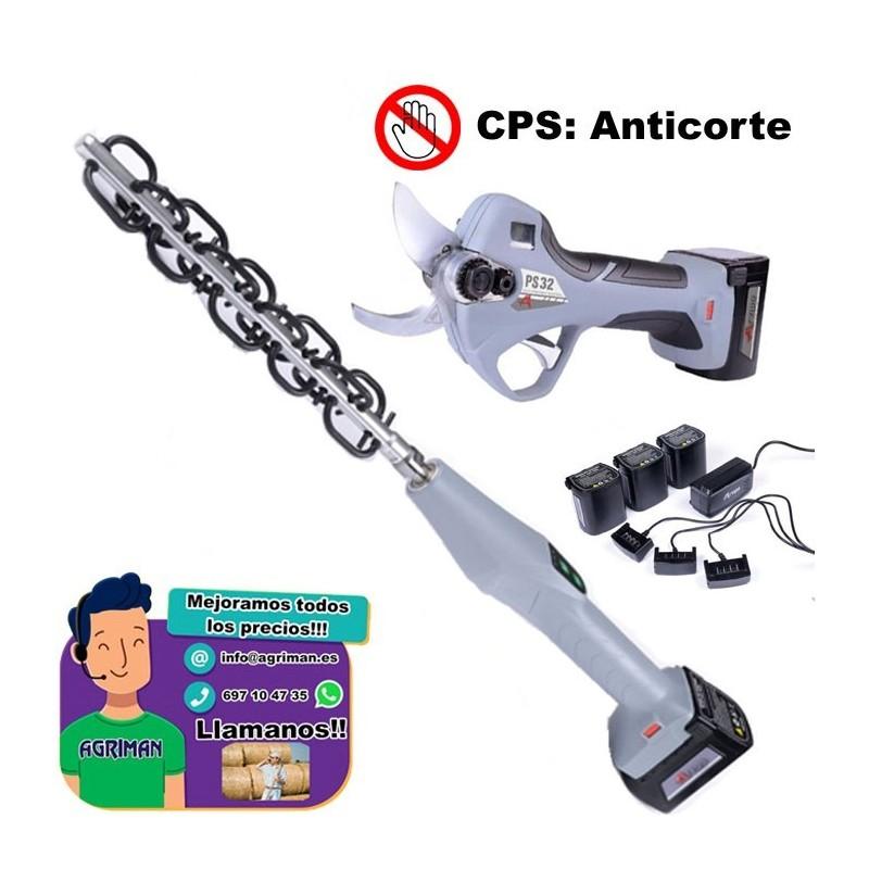 TIJERA ELÉCTRICA DE PODA ARVIPO PS32 + ACLAREADOR ARVIPO AF100