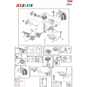 FILTRO GASOLINA KURIL KS63 (Ref:900160)