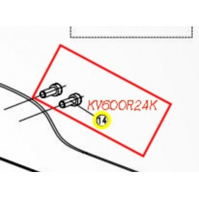 TORNILLO M5X13,5 PARA TIJERA KAMIKAZE KV600/KV700(ref:KV600R24K)