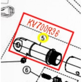 SOPORTE FIJACION HOJA PARA TIJERA KAMIKAZE KV700(ref:KV700R36)