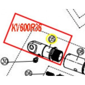 SOPORTE FIJACION HOJA PARA TIJERA KAMIKAZE KV600(ref:KV600R36)