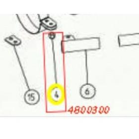TUERCA AUTOBLOCANTE M6 CINGADO VEREADOR SC605/ASPIRADOR V1200 (ref:4800300)