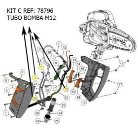 KIT C / KIT TUBO BOMBA SEILON M12 REF 78796