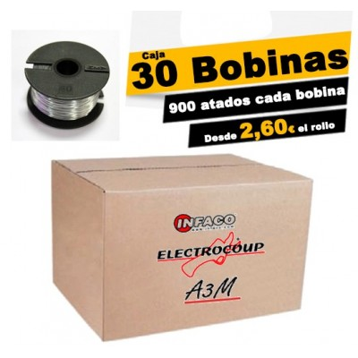 Caja 30 bobinas de hilo 0.46mm. de diámetro ELECTROCOUP