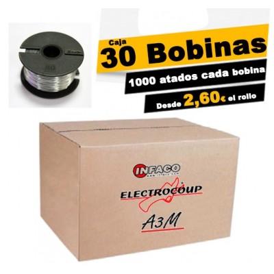caja 30 bobinas de hilo 0.40mm. de diametro Electrocoup