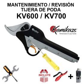REVISIÓN PARA TIJERA DE PODA KAMIKAZE KV600 / KV700